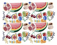 Hand painted fruit pattern illustration Royalty Free Stock Images