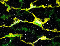 Hand-painted Galaxy Texture Stock Image