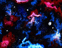 Hand-painted Galaxy Texture Stock Photos