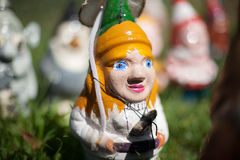Hand painted garden Gnomes royalty free stock photography