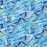 Hand painted geometric pattern Stock Images