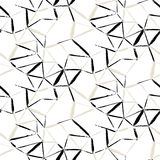 Hand painted geometric pattern Royalty Free Stock Photography