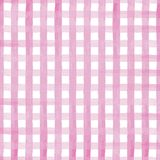 Hand painted gingham pink vector illustration on white background stock illustration
