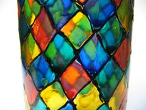 Hand painted glass Stock Images