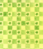 Hand painted green background Stock Image
