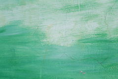 Hand painted green yellow brush strokes background Royalty Free Stock Photo