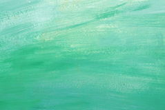 Hand painted green yellow brush strokes background Royalty Free Stock Images