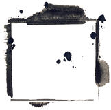 Hand painted grunge mixed media frame Stock Photography