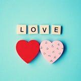 Hand Painted Hearts Stock Photo