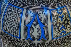Hand painted Moroccan pot Stock Images