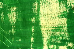 Hand painted  multi-layered green background with scratches Stock Images