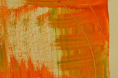 Hand painted  multi-layered orange background with scratches Royalty Free Stock Images