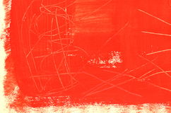 Hand painted  multi-layered red background with scratches Stock Images