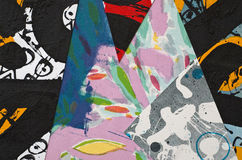 Hand Painted Paper Collage Stock Images