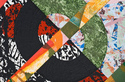 Hand Painted Paper Collage Stock Photography