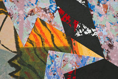 Hand Painted Paper Collage Royalty Free Stock Photography