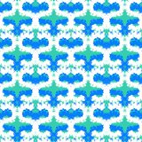Hand painted pattern with bold brush strokes Royalty Free Stock Image