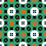 Hand painted pattern with bold ethnic motifs Stock Photography