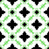 Hand painted pattern with bold ethnic motifs Stock Photos