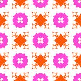 Hand painted pattern with bold ethnic motifs Royalty Free Stock Photography