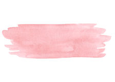 Hand painted pink watercolor texture isolated. On the white background. Usable for cards, wedding invitations and more stock illustration
