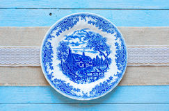 Hand painted plate Stock Photos