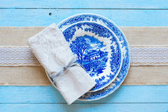 Hand painted plate Stock Photography