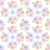 Hand painted roses pattern Royalty Free Stock Photo