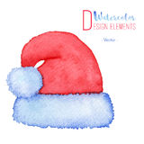 Hand painted Santa Claus red hat Royalty Free Stock Photo