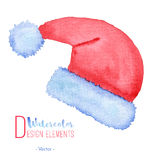 Hand painted Santa Claus red hat Stock Image