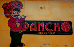 Hand painted sign seen in Mexico. Royalty Free Stock Photos