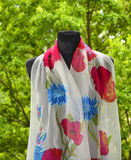 Hand painted silk scarf Royalty Free Stock Photo
