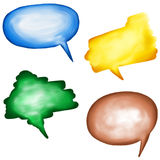 Hand Painted Speech Bubbles Stock Images