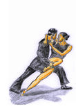 Hand-painted tango1 Royalty Free Stock Photo