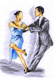 Hand-painted tango1 Royalty Free Stock Photography