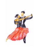 Hand-painted tango2. A graceful tango dancers, tango action Royalty Free Stock Images