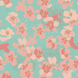 Hand painted textured floral seamless pattern Royalty Free Stock Images