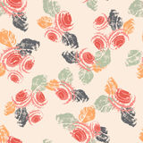 Hand painted textured shabby roses seamless pattern Royalty Free Stock Photos