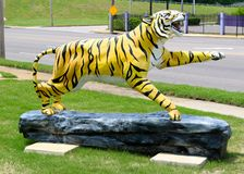 Hand Painted Tiger Statue, Memphis Tennessee Stock Photography