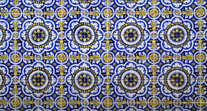 Hand painted tiles texture background Royalty Free Stock Photography