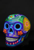 Hand painted traditional mexican sugar skull Stock Images