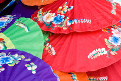 Hand painted umbrellas in Thailand Royalty Free Stock Images