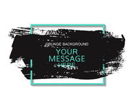 Hand painted universal ink background, brush stroke. Dirty artistic design element, box, frame for text. Royalty Free Stock Image