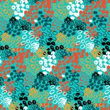 Hand painted vector pattern with splatters Stock Photography