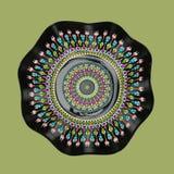 Hand painted vinyl mandala Stock Image