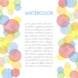 Hand painted water color card Stock Photo