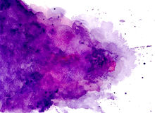 Hand painted watercolor background vector illustration