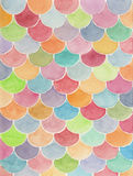 Hand painted watercolor background. Colorful watercolor scale abstract geometric background Royalty Free Stock Photo