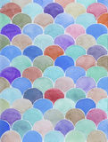 Hand painted watercolor background. Colorful watercolor scale abstract geometric background Royalty Free Stock Photography