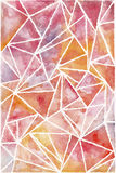 Hand painted watercolor background. Warm watercolor abstract geometric background Royalty Free Stock Images